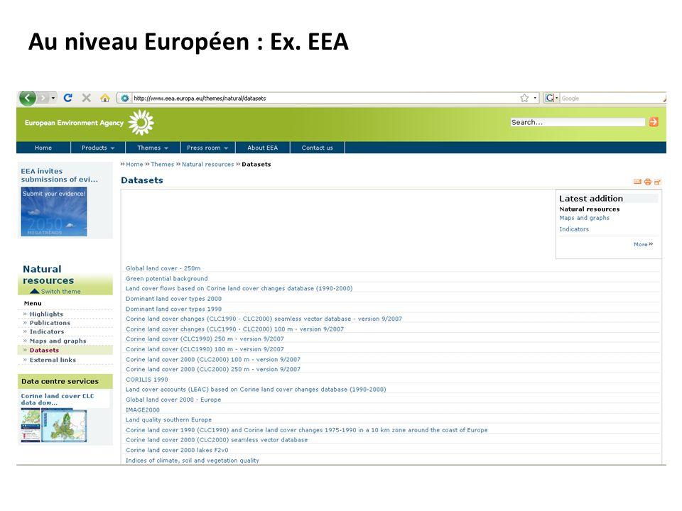 Au niveau Européen : Ex. EEA