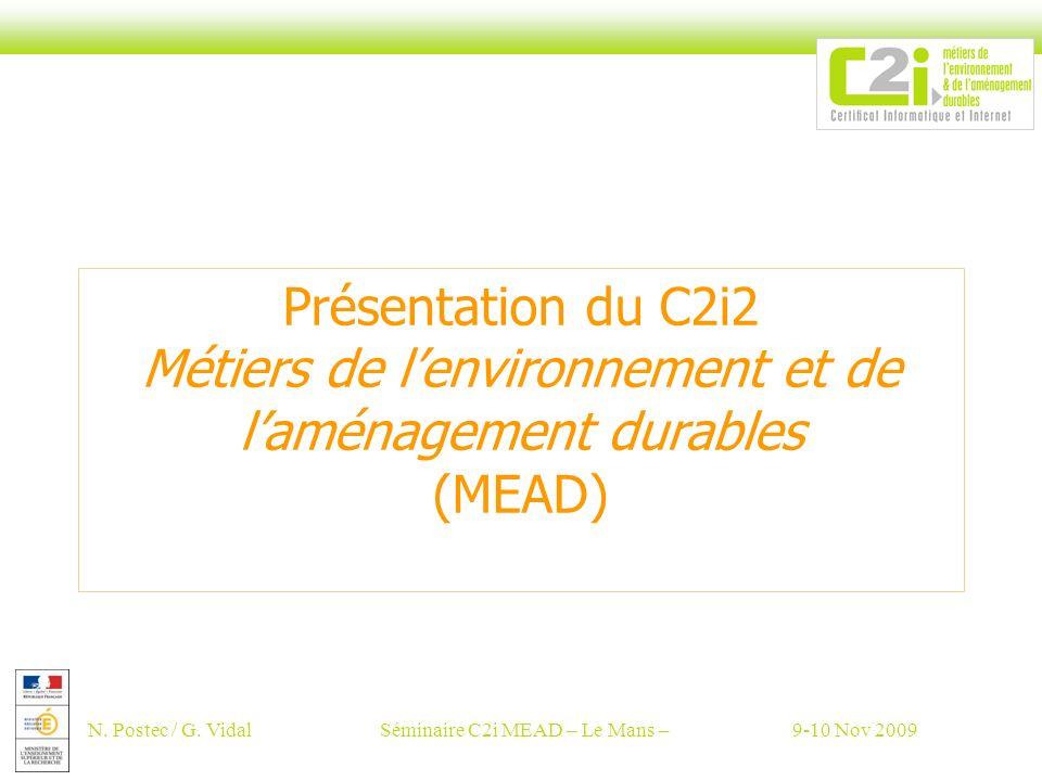 Séminaire C2i MEAD – Le Mans –