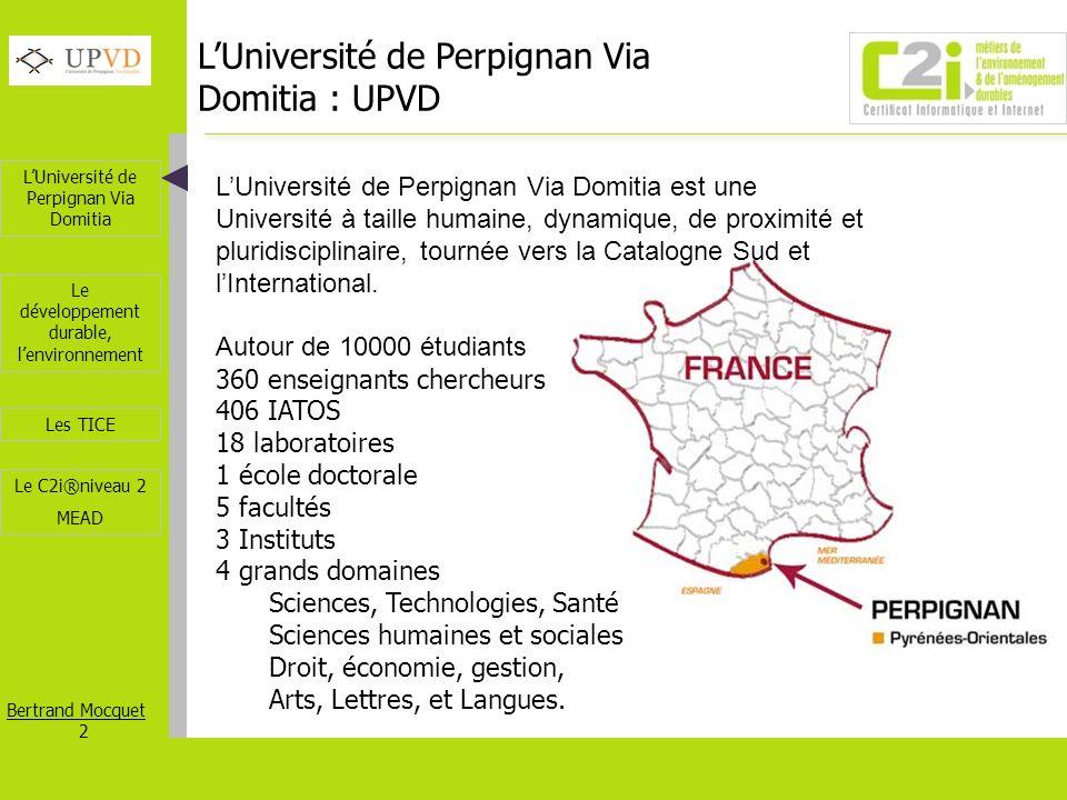 L'Université de Perpignan Via Domitia : UPVD