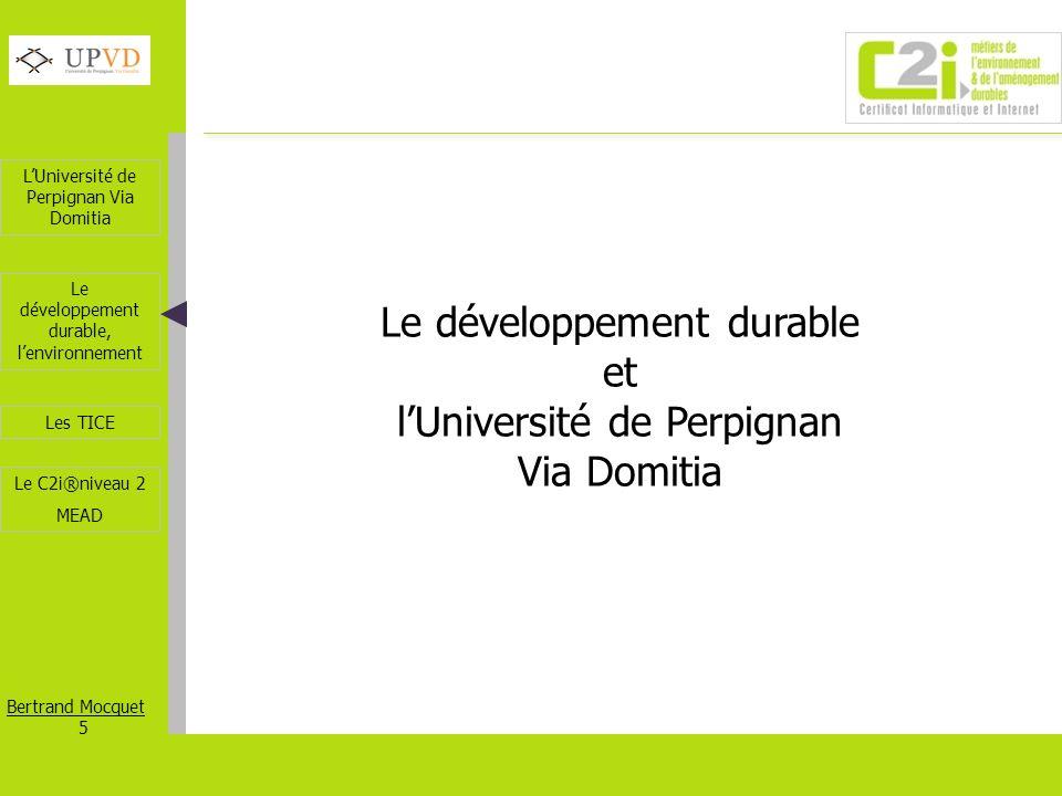 Le développement durable et l'Université de Perpignan Via Domitia