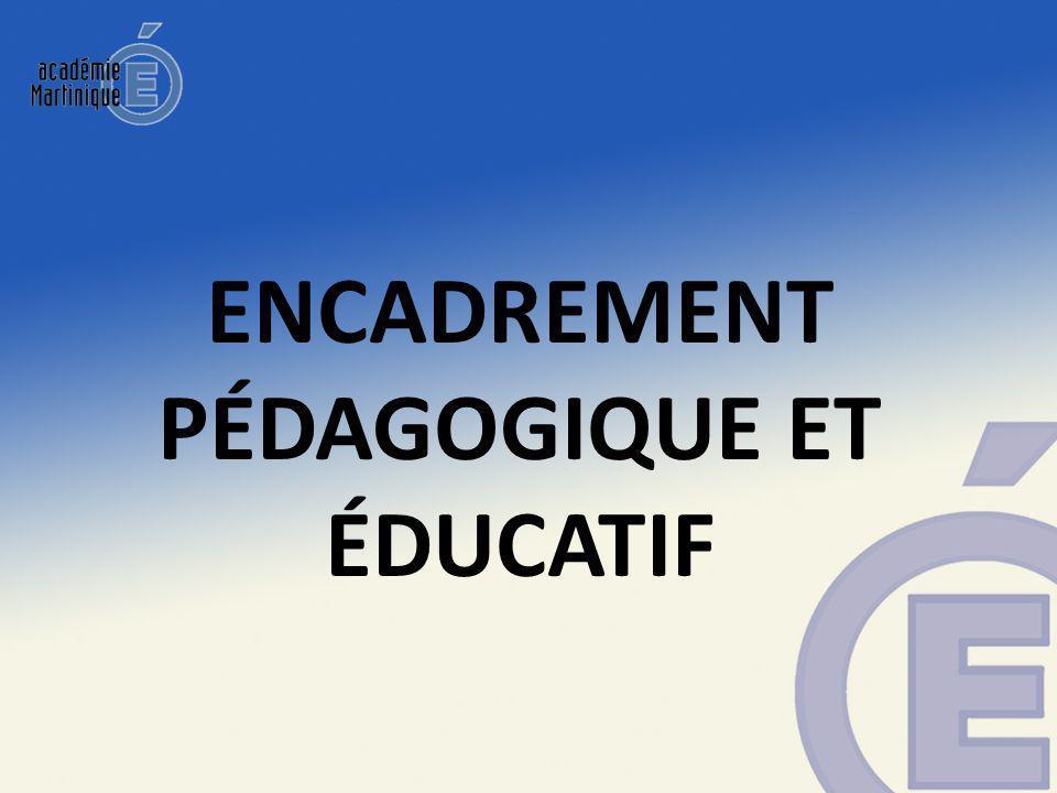 Encadrement pédagogique et éducatif