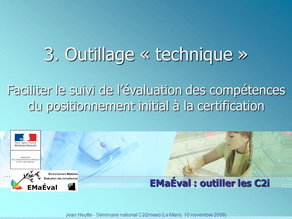 Jean Heutte - Séminaire national C2i2mead (Le Mans, 10 novembre 2009)