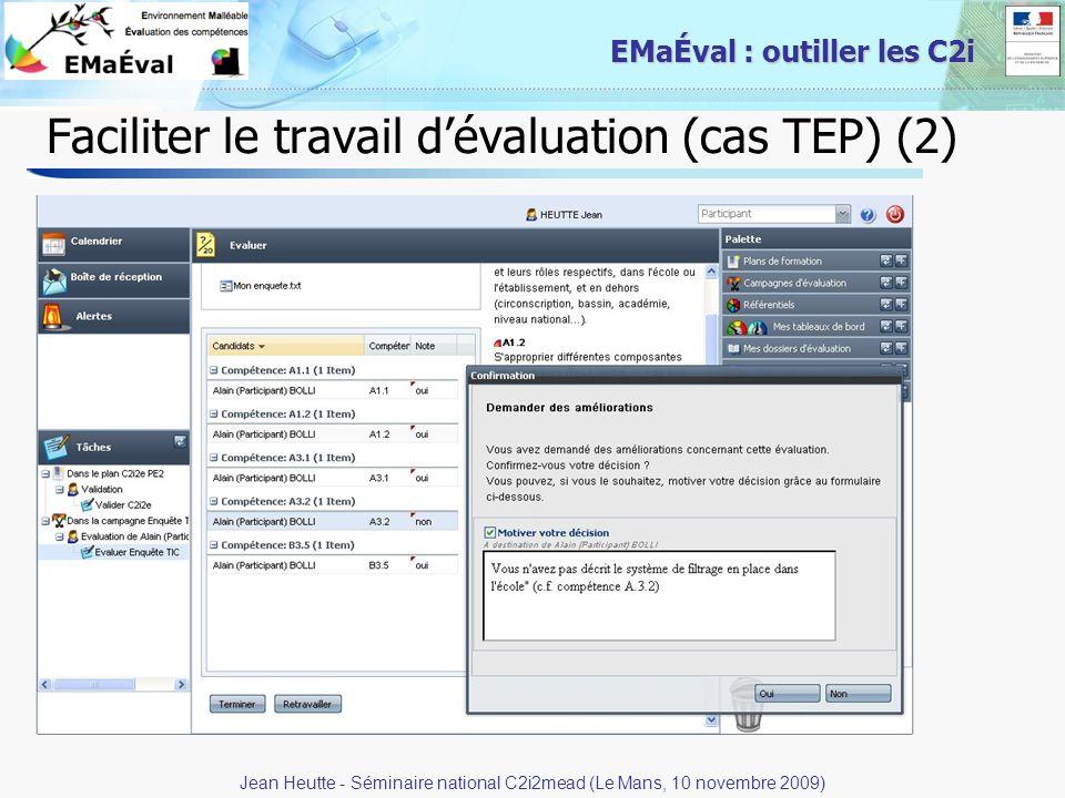 Faciliter le travail d'évaluation (cas TEP) (2)