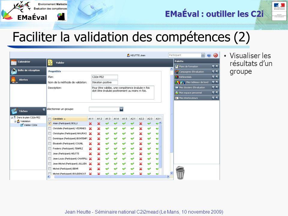 Faciliter la validation des compétences (2)