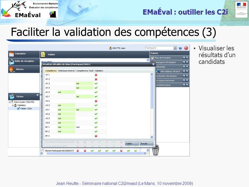 Faciliter la validation des compétences (3)