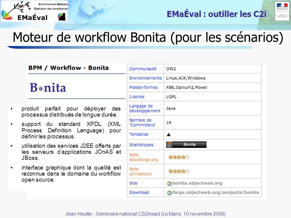Moteur de workflow Bonita (pour les scénarios)