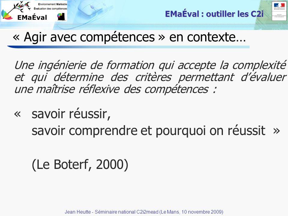 « Agir avec compétences » en contexte…
