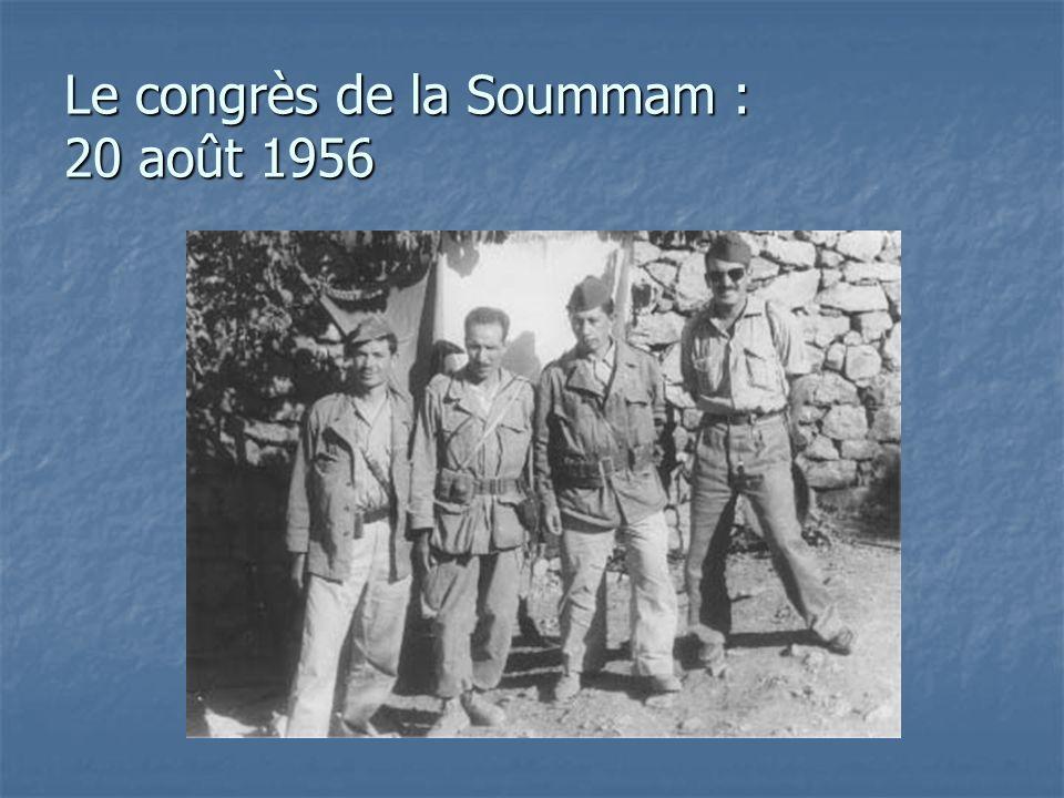 Le congrès de la Soummam : 20 août 1956