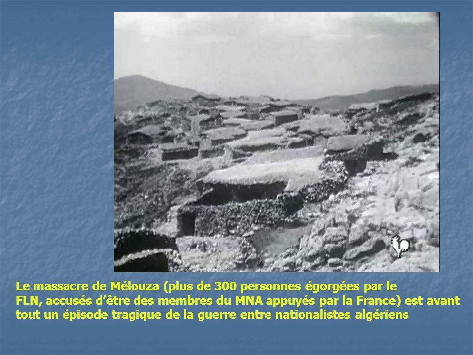 Le massacre de Mélouza (plus de 300 personnes égorgées par le