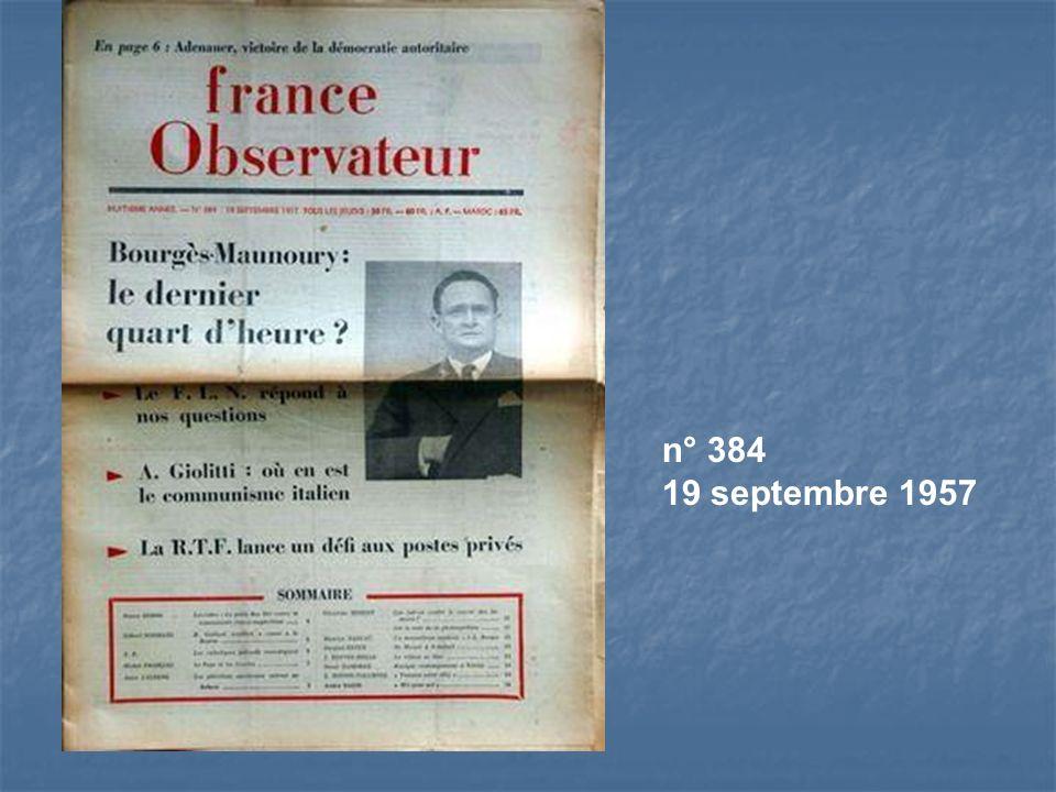 n° 384 19 septembre 1957