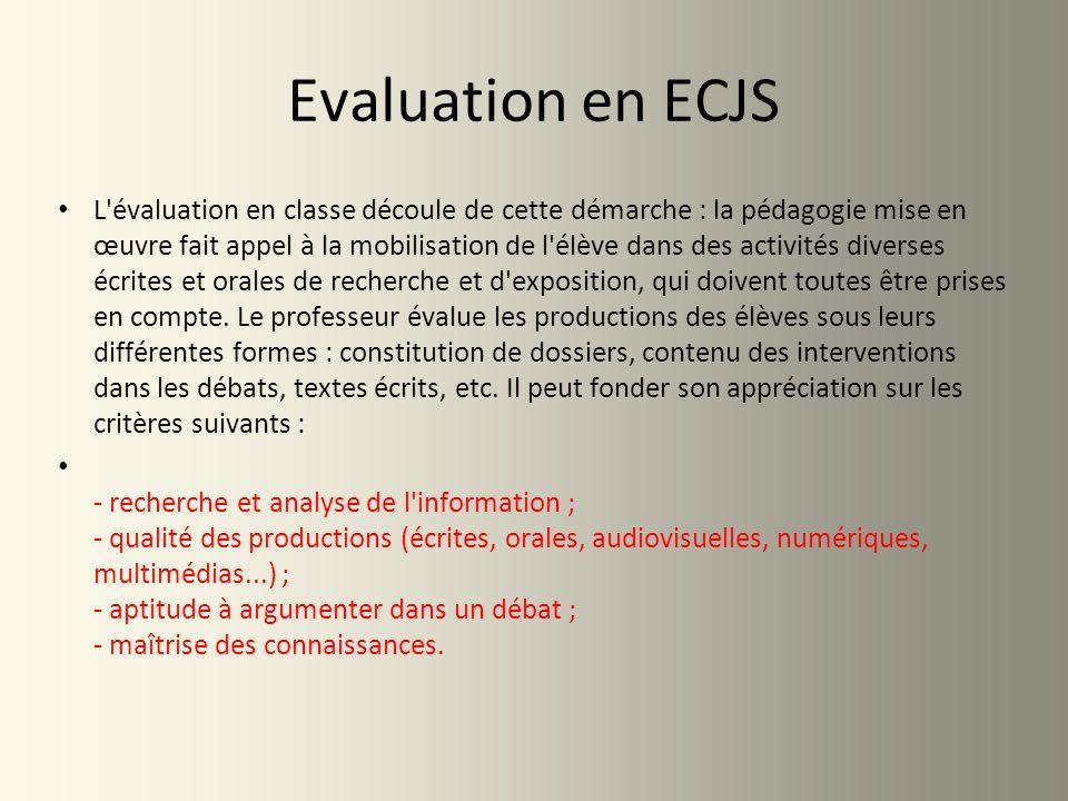 Evaluation en ECJS