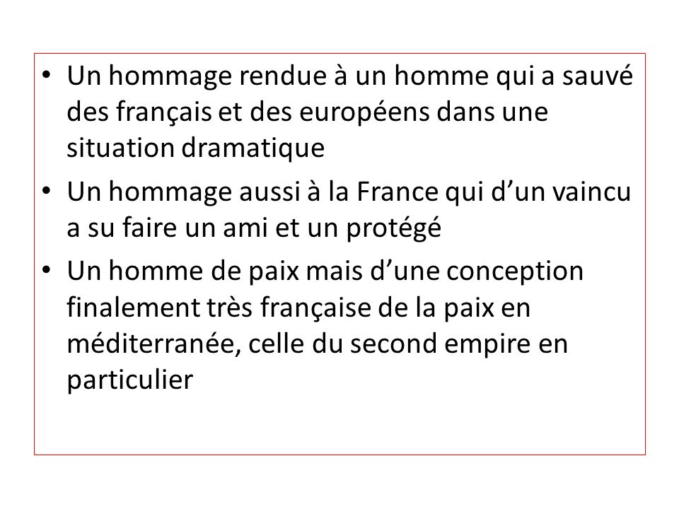 Un hommage rendue à un homme qui a sauvé des français et des européens dans une situation dramatique