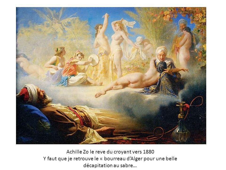 Achille Zo le reve du croyant vers 1880