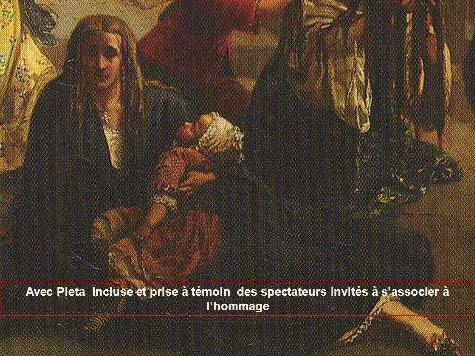 Avec Pieta incluse et prise à témoin des spectateurs invités à s'associer à l'hommage