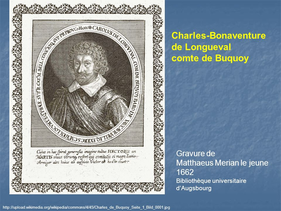 Charles-Bonaventure de Longueval comte de Buquoy Gravure de