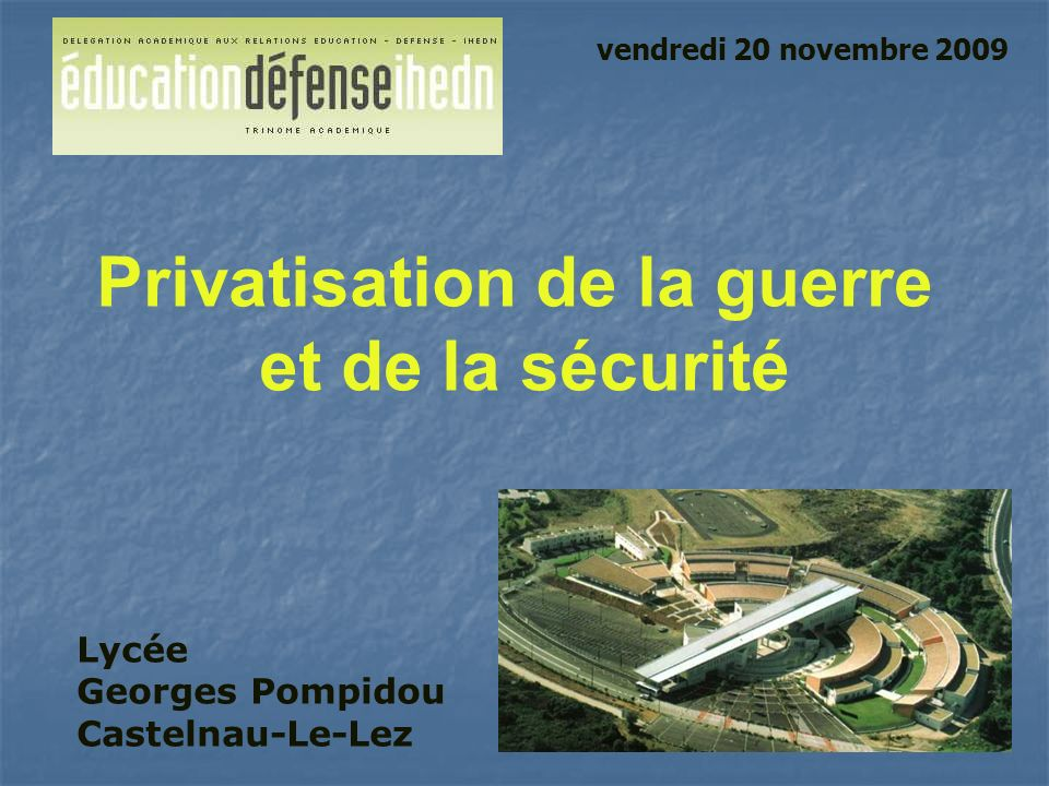 Privatisation de la guerre