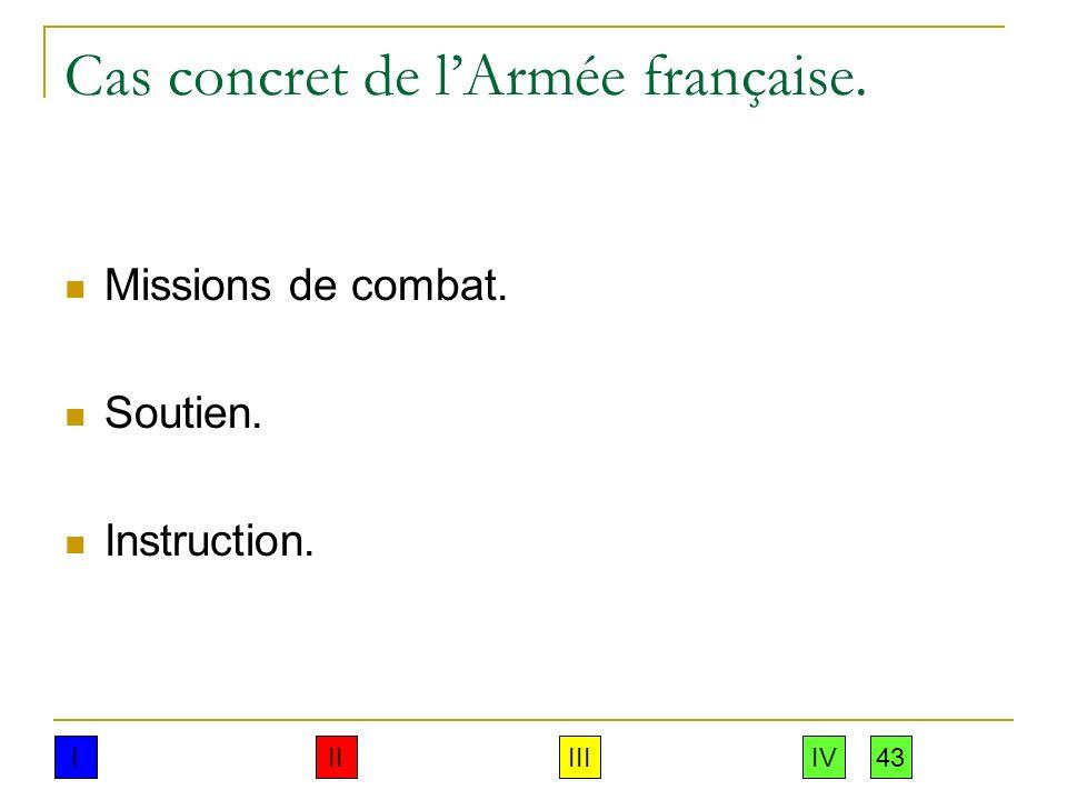 Cas concret de l'Armée française.