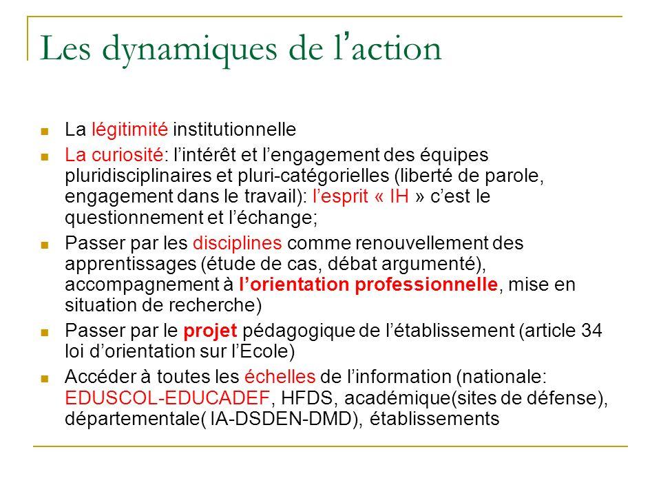 Les dynamiques de l'action