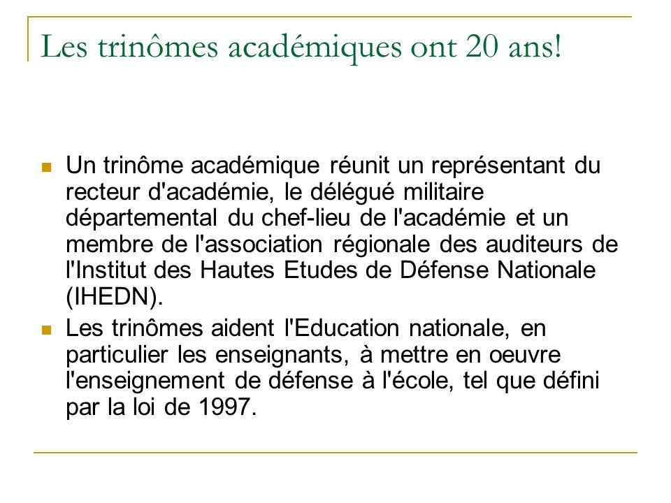 Les trinômes académiques ont 20 ans!