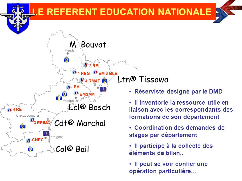 LE REFERENT EDUCATION NATIONALE