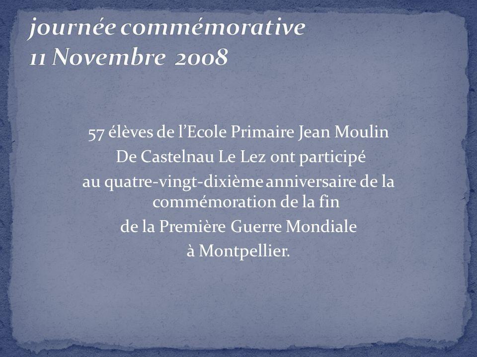 journée commémorative 11 Novembre 2008