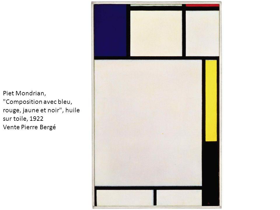 Piet Mondrian, Composition avec bleu, rouge, jaune et noir , huile sur toile, 1922