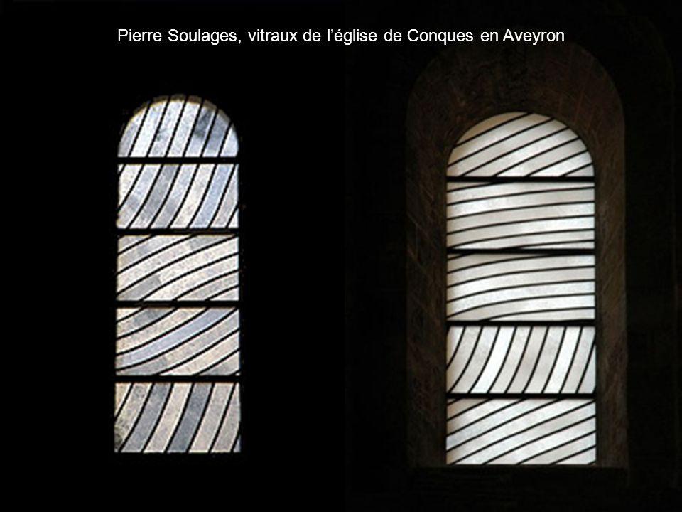 Pierre Soulages, vitraux de l'église de Conques en Aveyron