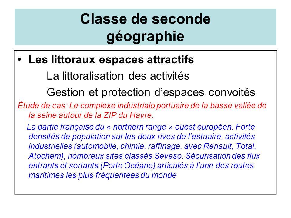 Classe de seconde géographie