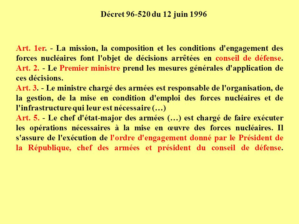 Décret 96-520 du 12 juin 1996