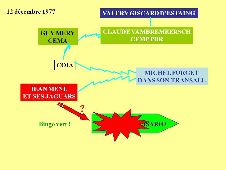 12 décembre 1977 VALERY GISCARD D'ESTAING CLAUDE VAMBREMEERSCH