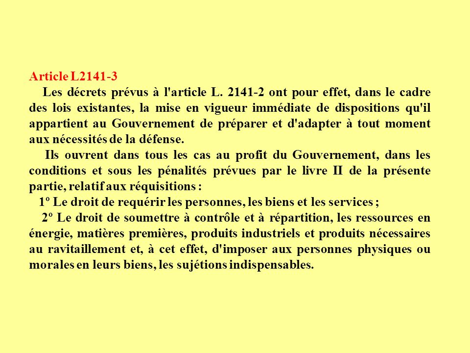 Article L2141-3