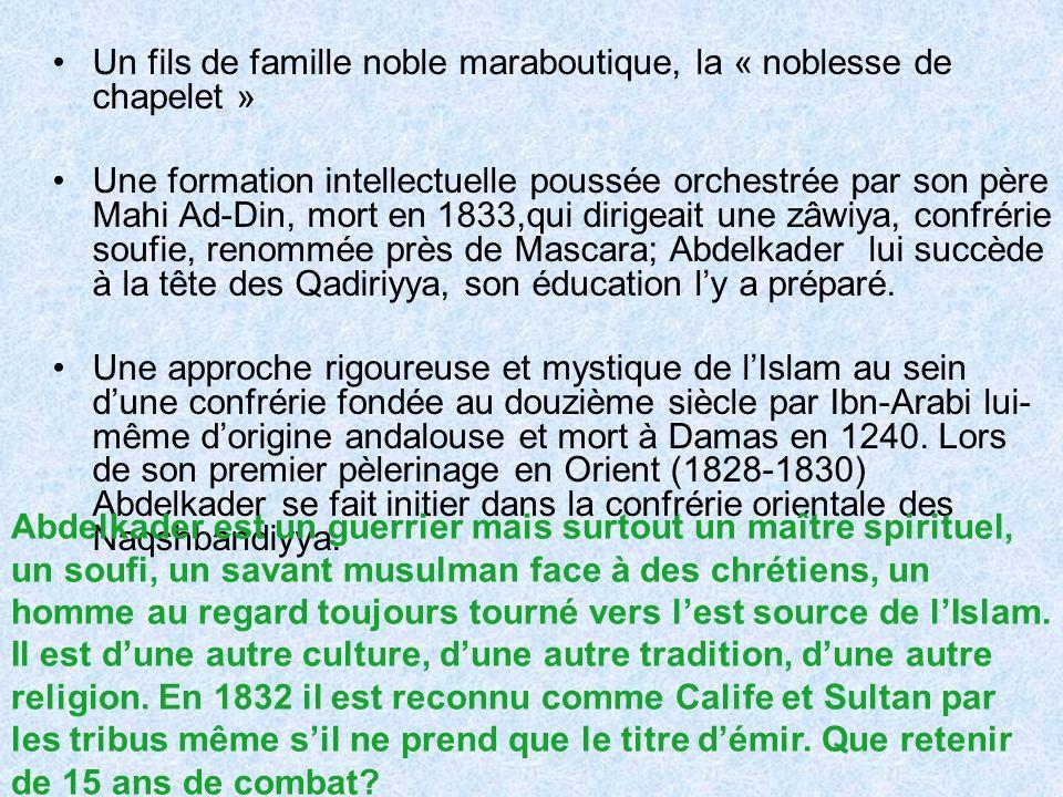 Un fils de famille noble maraboutique, la « noblesse de chapelet »