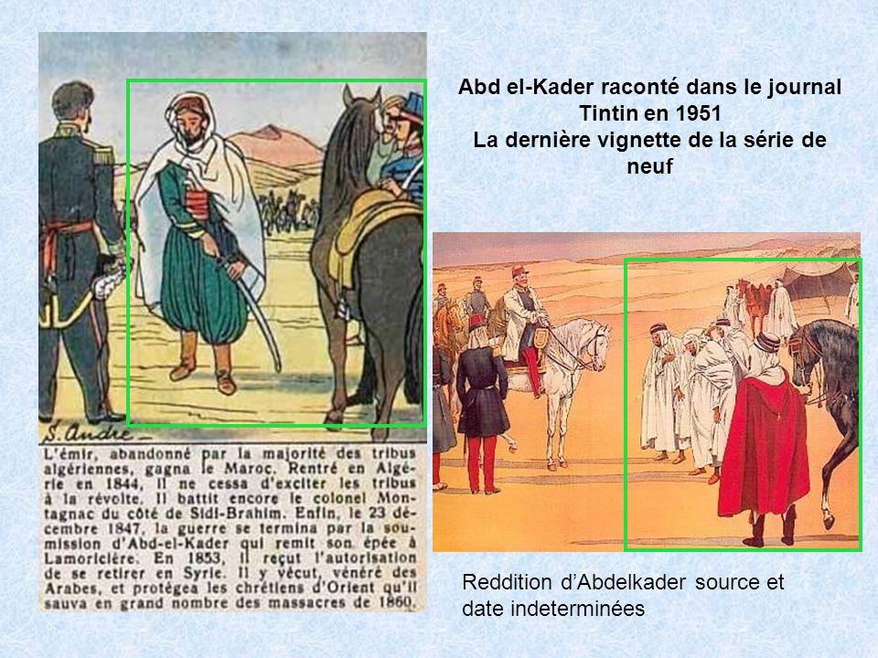 Abd el-Kader raconté dans le journal Tintin en 1951