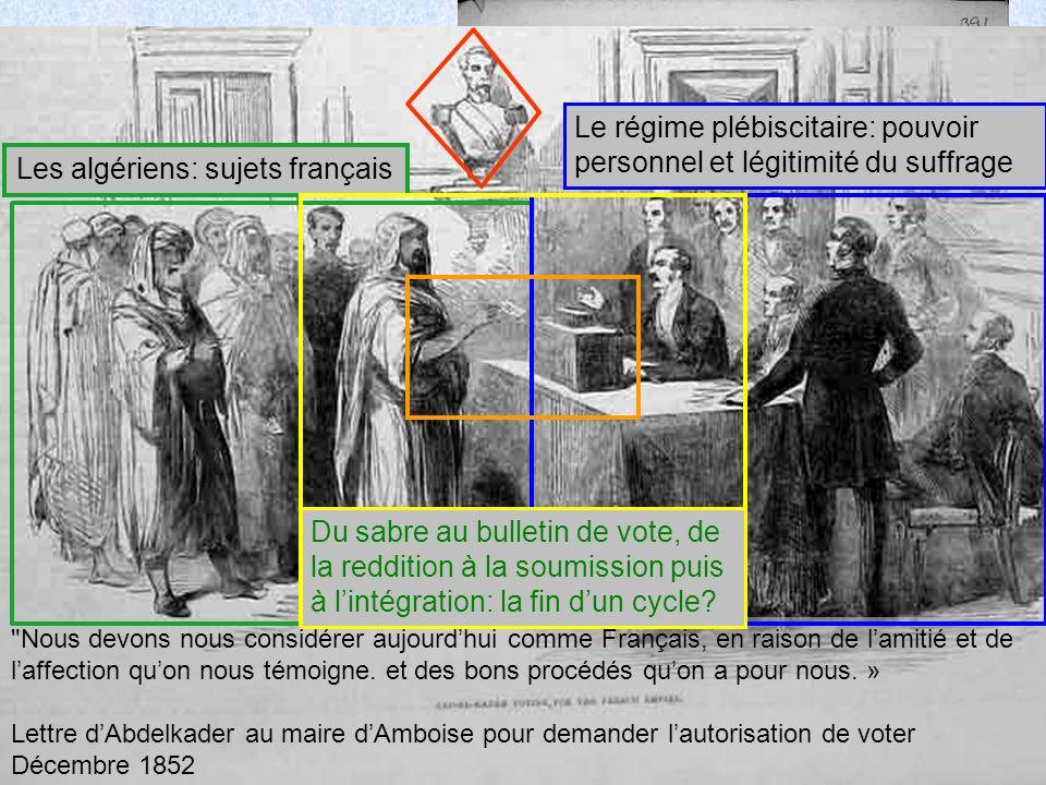 Les algériens: sujets français
