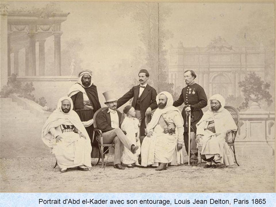 Portrait d Abd el-Kader avec son entourage, Louis Jean Delton, Paris 1865