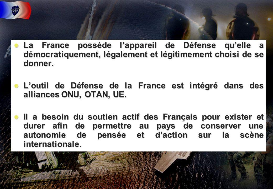 La France possède l'appareil de Défense qu'elle a démocratiquement, légalement et légitimement choisi de se donner.