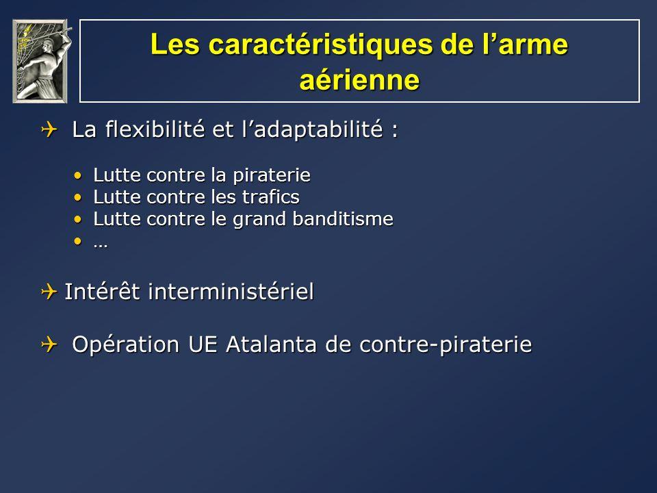 Les caractéristiques de l'arme aérienne