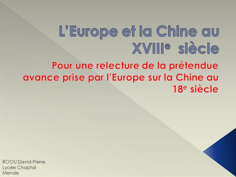 L'Europe et la Chine au XVIIIe siècle