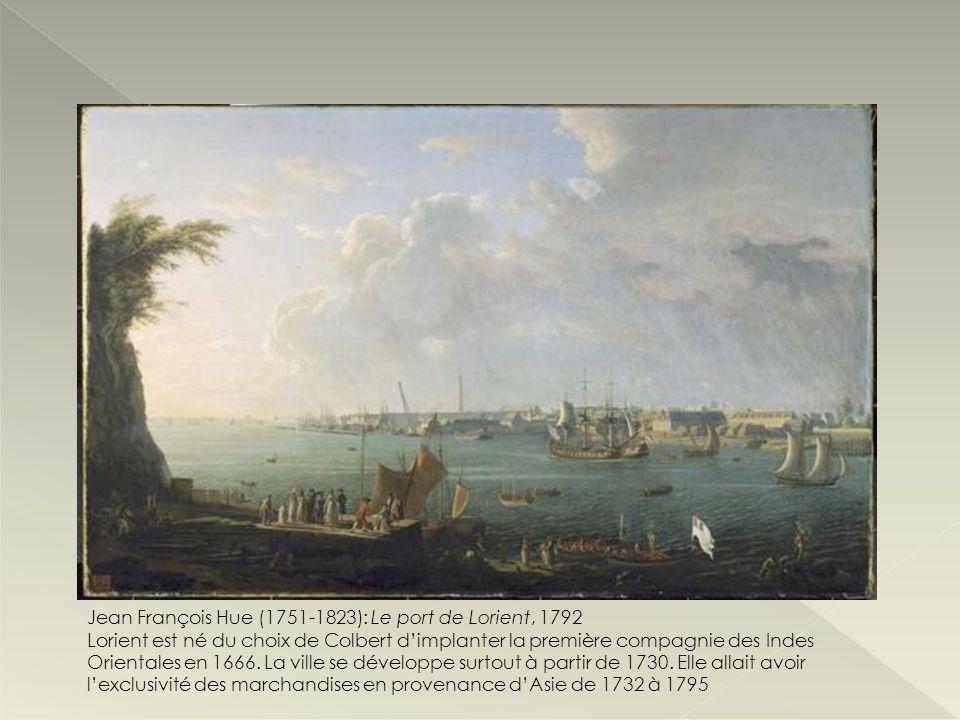 Jean François Hue (1751-1823): Le port de Lorient, 1792