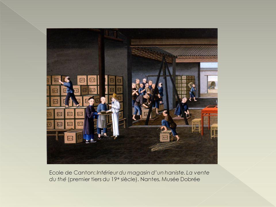 Ecole de Canton: Intérieur du magasin d'un haniste