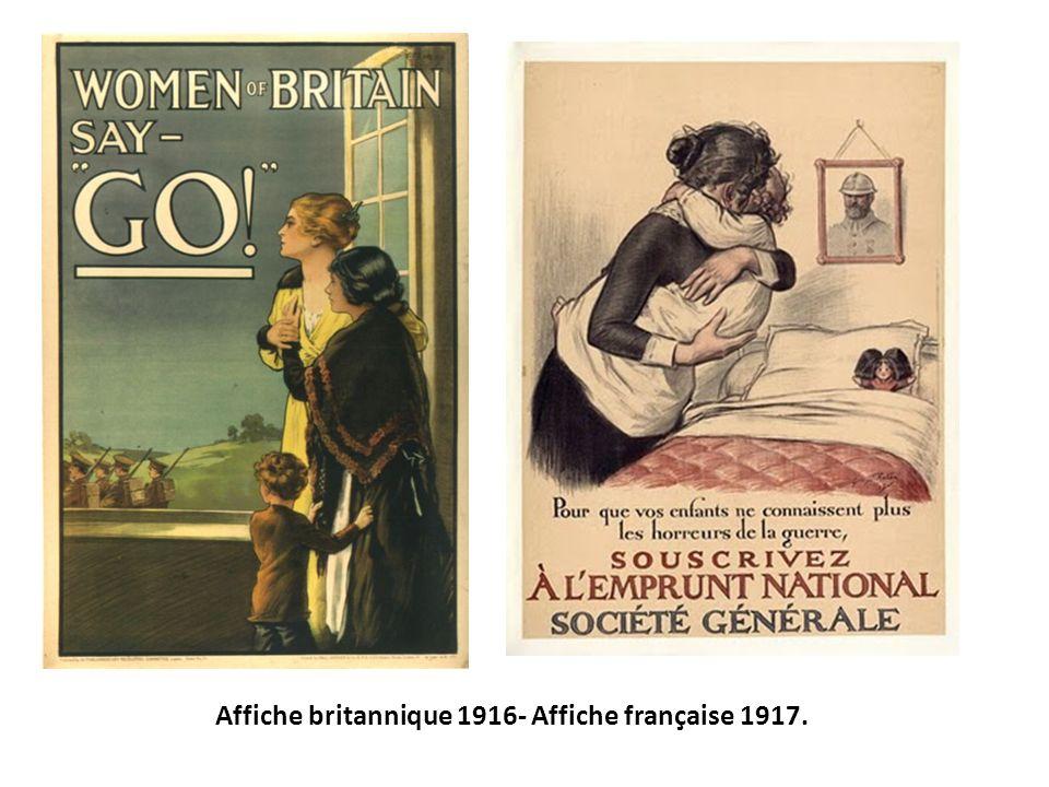 Affiche britannique 1916- Affiche française 1917.