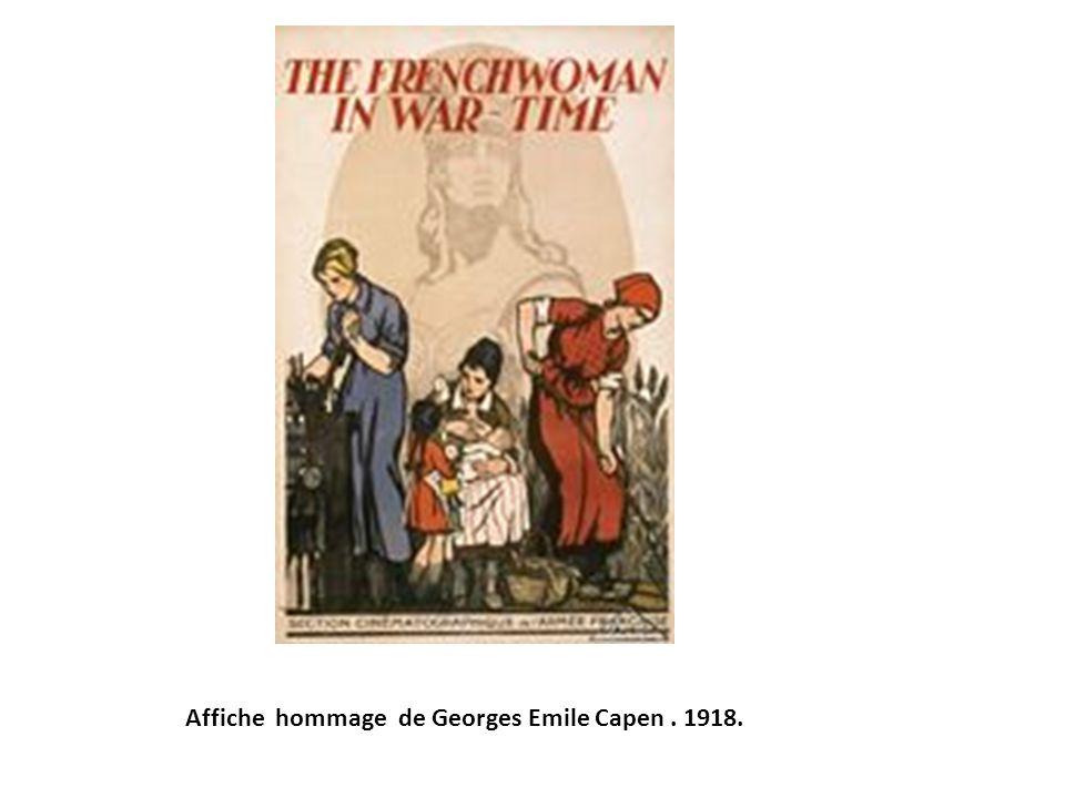 Affiche hommage de Georges Emile Capen . 1918.
