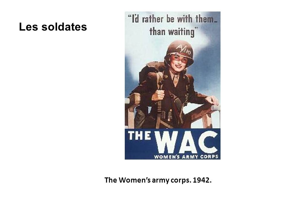 Les soldates The Women's army corps. 1942.
