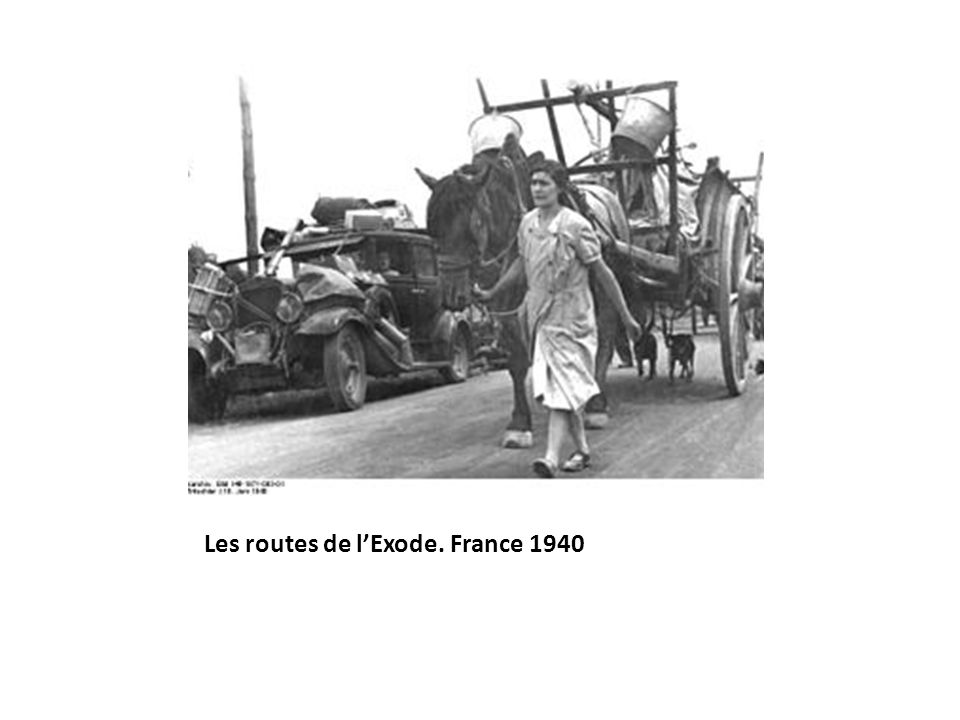 Les routes de l'Exode. France 1940
