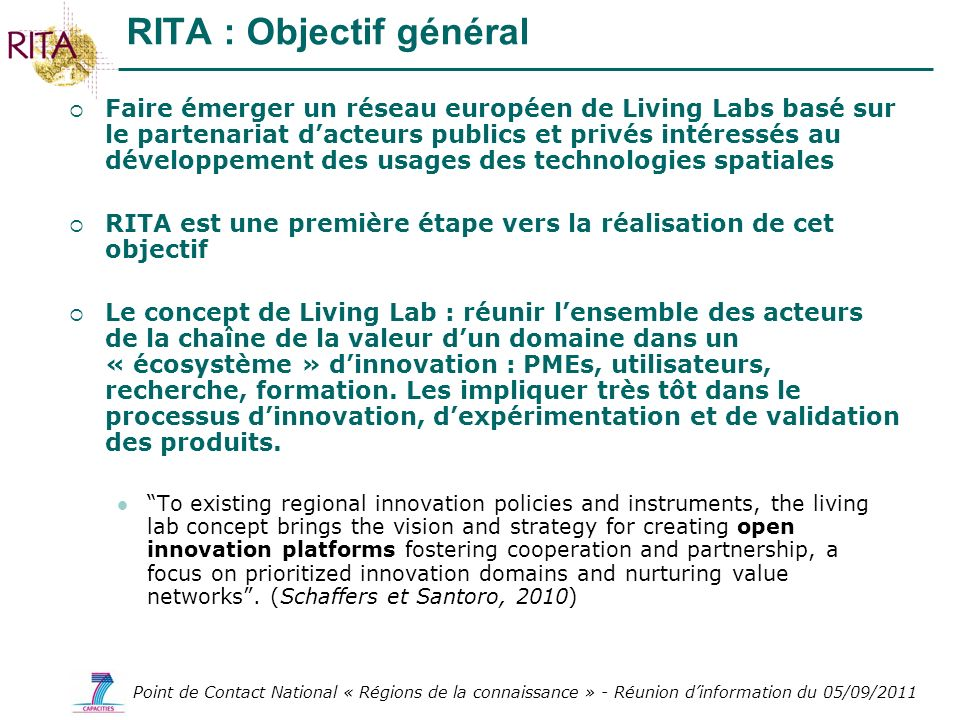 RITA : Objectif général