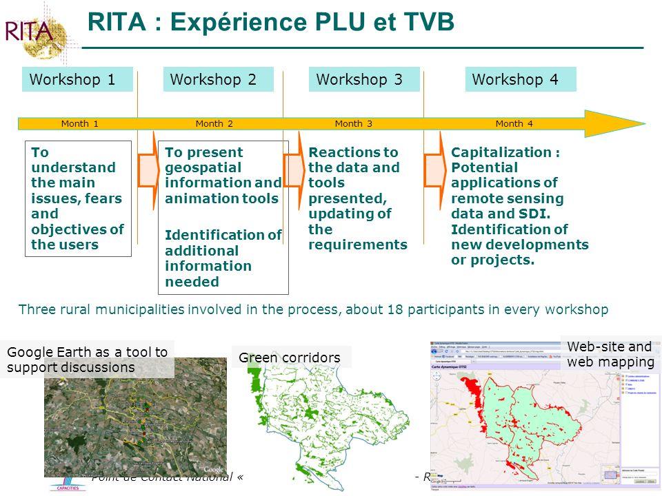 RITA : Expérience PLU et TVB