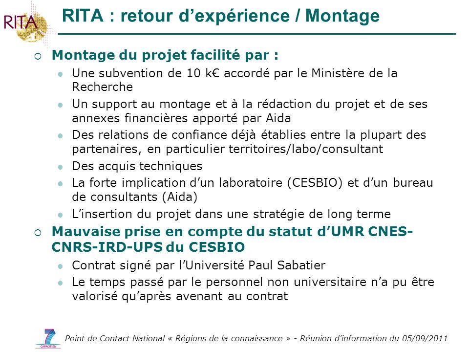 RITA : retour d'expérience / Montage