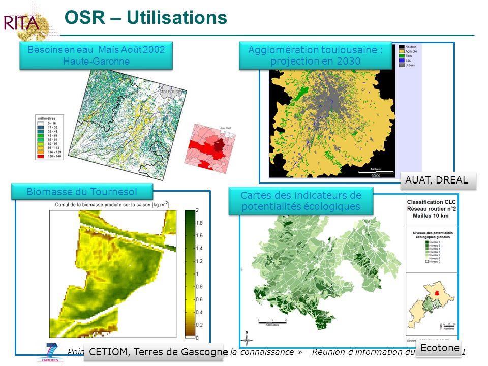 OSR – Utilisations Besoins en eau Maïs Août 2002 Haute-Garonne