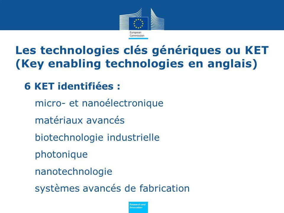 Les technologies clés génériques ou KET (Key enabling technologies en anglais)