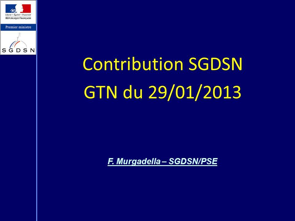 F. Murgadella – SGDSN/PSE